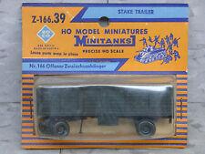 Roco / Herpa Minitanks (NEW) WWII US Open Cargo Stake Trailer W/Hitch Lot #1072