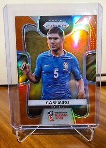 2018 Panini Prizm World Cup Orange Base Soccer Casemiro 50/65