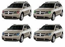 for Dodge Journey 09-13 RGB Multi Color LED Halo kit for Headlights