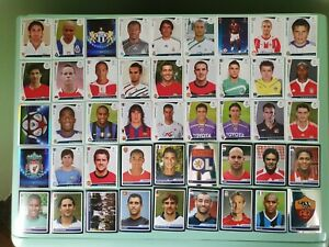 PANINI CALCIATORI - LOTTO N. 100 FIGURINE CHAMPIONS  LEAGUE VARIE ANNATE
