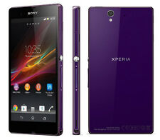 "Purple 5"" Sony Ericsson Xperia Z C6603 4G IP57 (Unlocked) SmartPhone 13.1MP 16GB"
