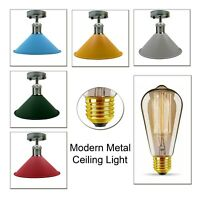 UK Edison Lamp Light Modern Retro Style Ceiling Pendant Flush Mount Light Shade