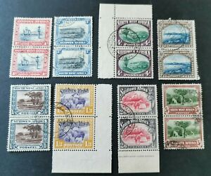 South West Africa KGV 1931 Fine Used Pairs. SG75, 77-82. Cat £115