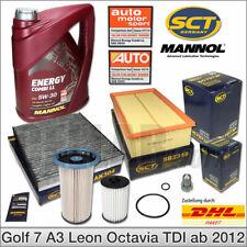 VW Golf 7 Audi A3 Seat Leon Skoda Octavia Inspektionspaket Filterset 5L 5W30 Öl