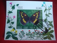 OMAN - 1969 WHITE ADMIRAL BUTTERFLY  MINISHEET - UNMOUNTED USED MINIATURE SHEET
