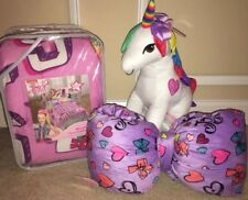 "Jojo Siwa Twin Comforter Plush Bow Accent Pillow 23"" Unicorn Buddy Bed Bedroom"