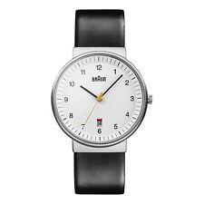 Braun Men's BN0032WHBKG Classic Analog Watch w. White Display and Black Band