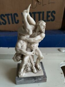 Vintage Ruggeri Greek Mythology Hercules Diomedes Naked Phallus Statue Marble