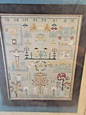 Scarlet Letter German Sampler IAMEK Dated 1801 Countd Cross Stitch Sampler Chart