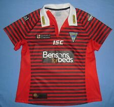 Warrington Wolves / 2011 Away - ISC - WOMENS rugby Shirt / Jersey. Size: 16 (S?)
