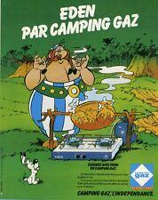 """""""CAMPING GAZ EDEN"""" Annonce originale entoilée UDERZO 1980  27x34cm"""