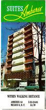 Suites Amberes Mexico DF Mexico City Vintage Hotel Brochure