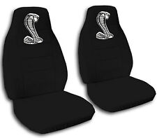 AF 94-04 Ford mustang front car seat covers with white COBRA design