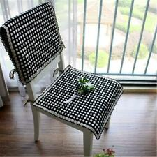 Houndstooth chair back cover,dining room chair cover, chair back cover with ties