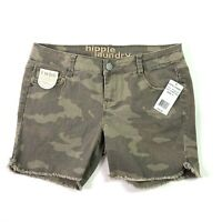 New Hippie Laundry Shorts Womens Camo Scarlet Feve BT308L-16D Size 7 Inseam 5 in
