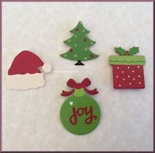 Joy Christmas Metal Magnets Set of 4 by Roeda® Free U.S. Shipping