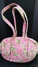 Vera Bradley Purse small duffel shoulder bag/makeup bag Petal Pink retired 2007