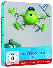 Disney - Die Monster Uni - 3 D + 2 D + Bonus Disc - Steelbook - 3 Blu Ray Box