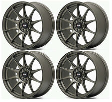 "XXR 527 18"" x 8.75J ET35 5x100 5x114.3 FLAT BRONZE WIDE RIMS ALLOYS WHEELS Z1464"
