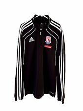Stoke City Jumper. Small Adults. Adidas. Black Adults S Long Sleeves Football.