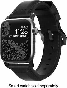 New! Nomad Classic Strap for Apple Watch 44mm/42mm Black Leather Black Hardware