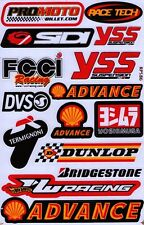 Shell Oil Racing Decal Gas Pump Car truck Bumper Window Sticker sheet. (st18)