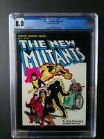 The New Mutants, Marvel Graphic Novel 4, CGC Graded 8.0, 1st Ed 1982