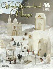 Winter Wonderland Village Wilma Bonner Crochet Thread Patterns Church House NEW