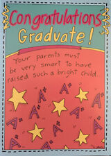 Funny Graduation Congratulations Greeting Card from Mom and Dad