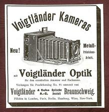 Voigtländer & Sohn AG Braunschweig Voigtländer Kameras Optik 1906