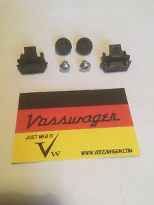 NEW GENUINE VW GOLF MK2 FRONT GRILL PLASTIC FIXING CLIPS / STAINLESS SCREWS SET