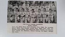 Miami Florida PONY League & Monterrey Mexico 1958 Baseball Team Picture