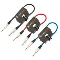 3 x Guitar Lead 6.35mm Mono Jack to Jack / Instrument Cable / 3 Colours / 3 Pack