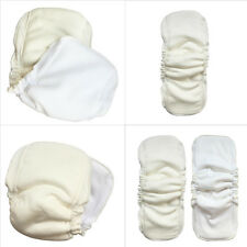 5 Layers Natural Bamboo Cotton Waterproof Diaper Insert Reusable Baby Nappies
