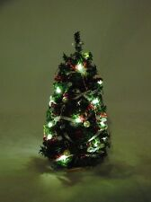 "Christmas Tree  7"" Lighted Silver/Red- 1/12 scale dollhouse miniature DHS4923"