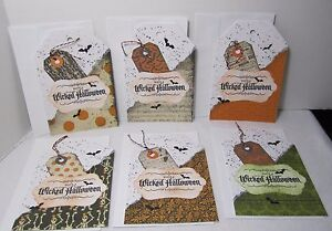 Close to my Heart WICKED HALLOWEEN Handmade Card Recollections with Envelopes