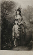 Thomas Gainsborough: The Misses Baillie. Charles Waltner 62 x 40cm