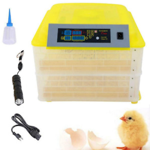 112 Eggs Chicken Goose Incubator Automatic Egg Incubator Poultry Hatcher 110V.