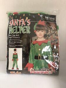 SANTA'S LITTLE HELPER KIDS SIZE XL UNISEX NEW CHRISTMAS ELF COSTUME OUTFIT
