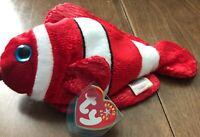 TY Beanie Baby - JESTER the Clownfish (8 inch) - MWMT's Stuffed Animal