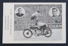 Carte postale LES CELMAR'S champion du monde d'Acrobaties moto pneu Goodrich