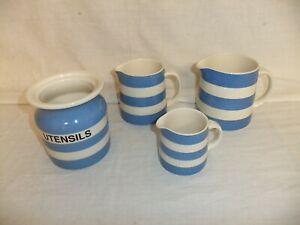 c4 Pottery T.G.Green - Cornish Kitchen Ware blue & white striped tableware 3B1B