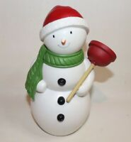 Hallmark Jolly in the John Singing Motion activated Snowman Plumber with Plunger