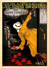 VINTAGE poster ART DECO Espresso Caffè Amante Treno Espresso Pubblicità A3 stampa