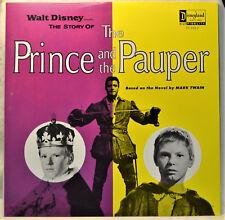Walt Disney Story of Prince and the Pauper LP EX+ Vinyl 1st Press Green Label