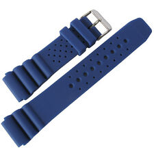20mm deBeer 911 Mens Royal Blue Silicone Rubber Dive Watch Band Strap