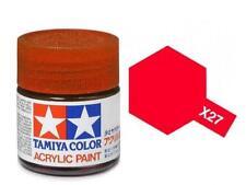 Tamiya X-27 Gloss Clear Red Acrylic Paint Mini 10ml (1/3oz) Tam81527