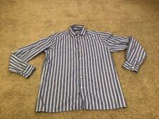 Polo Ralph Lauren Purple Label Men's Medium Striped Oxford Shirt Italian Made