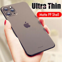 COVER per Iphone 11 /Pro Max CUSTODIA ULTRA SOTTILE SEMI TRASPARENTE OPACO
