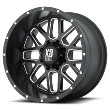 "17"" XD Series XD820 Grenade Black Milled Wheel 17x8.5 6x5.5 0mm Chevy Tahoe Rim"